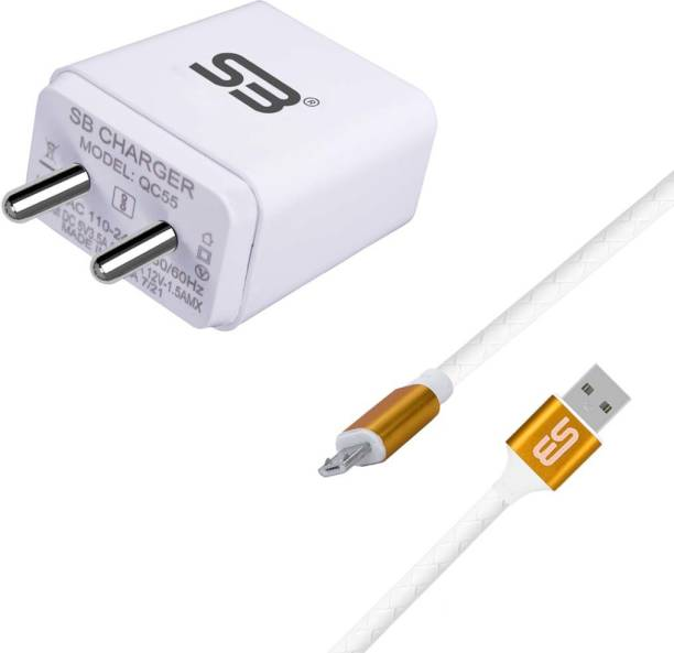 shopbucket 3.0AMP Wall Fast Adapter 18W BIS Certified, Auto-detect Technology, Single USB Port Mobile Charger (White) With Micro USB 2.4A Data cable (Gold) Length 1.2 Meter Long Cable Compatible With Asus Zenfone 2, Asus Zenfone 4 Selfie, Asus Zenfone C, Asus Zenfone Go 4.5, Asus ZenFone Go, Asus PadFone Mini. 18 W 3 A Mobile Charger with Detachable Cable