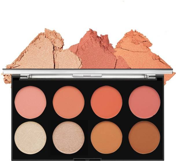 VARS LONDON matte blusher with highlighter and contour palette | blusher, highlighter, contour palette | face and cheeks blusher palette