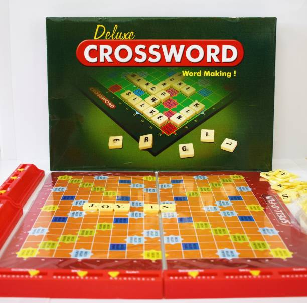 Joy In CROSSWORD Board Game   Crossword Scrabble Board Game  Word Making Family Board Games   Big Size Spelling Game for Kids and Adults   Education, Vocabulary, Learning, Word Building, Spelling Game for Kids and Adults   Educational Board Games Board Game