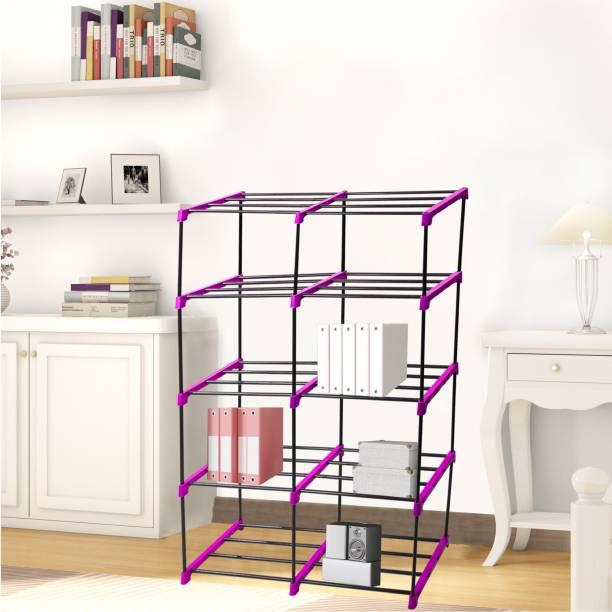 Flipkart Perfect Homes Studio Multi Organiser Pink-10 Book Shelf Metal Open Book Shelf