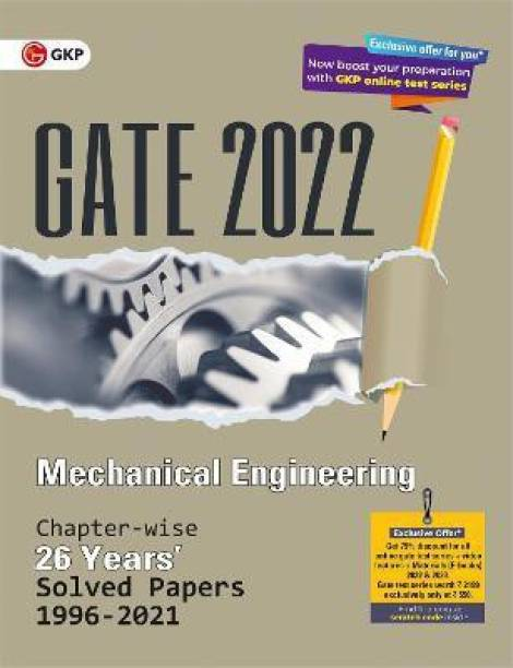 Gate 2022 Mechanical Engineering - 26 Years Chapter-Wise Solved Papers (1996-2021)
