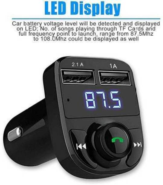 Tathya v4.2 Car Bluetooth Device with 3.5mm Connector, USB Cable, Transmitter