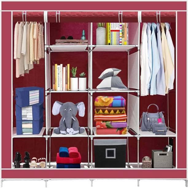 ECO SHOPEE 12 Shelves 88170 Portable PP Collapsible Wardrobe