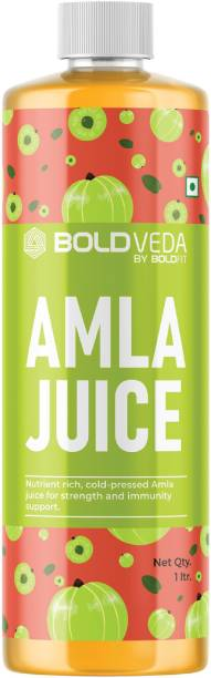 BOLDVEDA Pure Natural Amla Juice Rich Source of Vitamin C and Antioxidants for Immunity Boosting