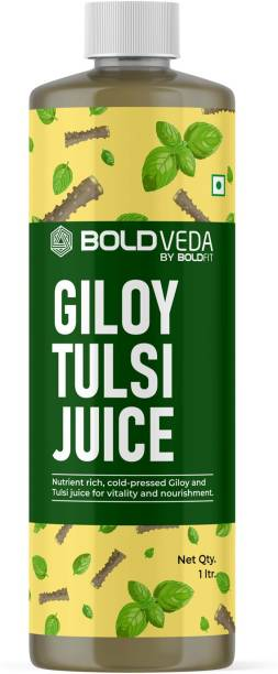 BOLDVEDA Cold Pressed Tulsi Giloy Juice for Vitality and Norishment - Support Immunity