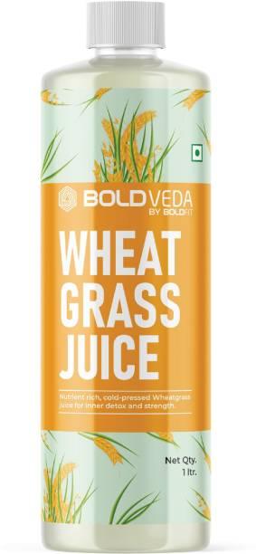 BOLDVEDA Cold Pressed Wheatgrass Juice for Inner Detox