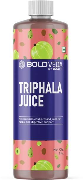 BOLDVEDA Triphala Juice (Amla, Harhad, Behera) With Aloe Vera. Ayurvedic Ingredients Rich, Nutrition Rich, Cold Pressed Triphala Juice For Men & Women
