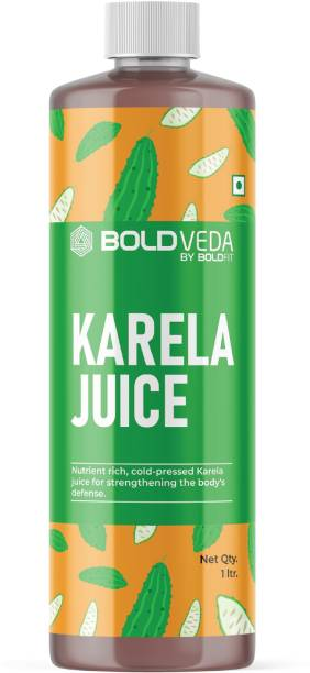 BOLDVEDA Cold Press Karela Juice for Strengthening the Body's Defense - Pure & Natural Bitter Gourd Juice with No added Preservatives