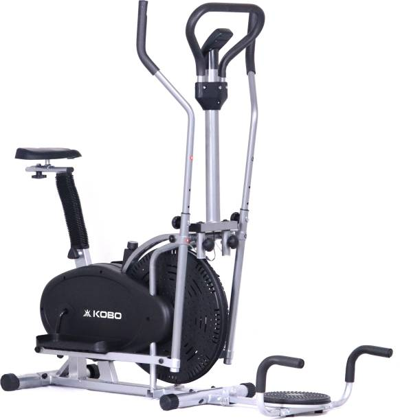 KOBO Cross Trainer Multi Function 4 in 1 Upright Cycle (IMPORTED) Dual-Action Stationary Exercise Bike