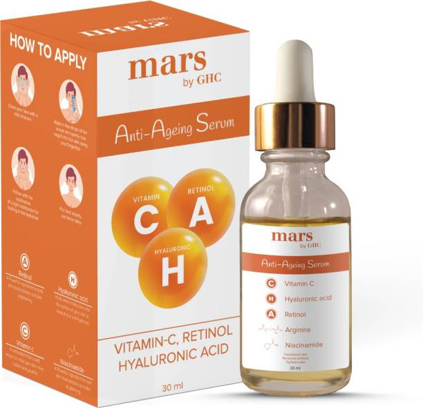mars by GHC Even Tone Serum with Vitamin C, Hyaluronic Acid, Niacinamide, Retinol, For Deep Hydration, Lightweight Texture