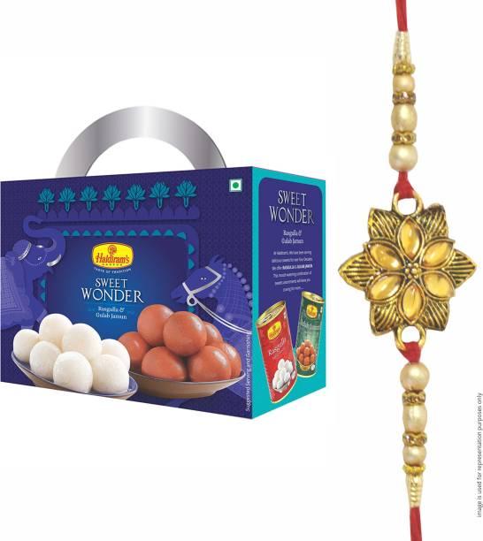 Haldiram's Sweet Wonder (Rasgulla and Gulab Jamun) with Rakhi Assorted Gift Box