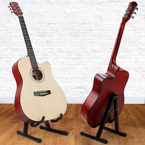AMG Music Guitar Stand Folding A Frame Guitar Floor Stand with Padded Foam Fit Acoustic Guitar, Bass Guitar, Electric Guitar, Banjo, Ukulele, Mandolin, Violin,Cello and More A Frame Hanger