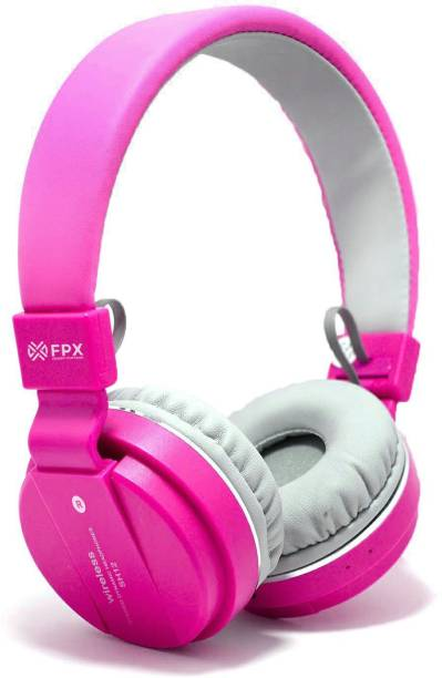 FPX Trip Go Bluetooth Headphone 8 hrs Playtime (Pink, On the Ear) Bluetooth Headset