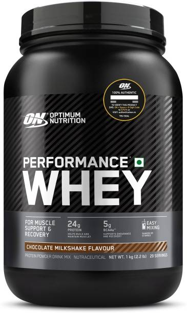 Optimum Nutrition (ON) Performance Whey Protein Powder, 24g Protein, 5g BCAA, Whey Protein Isolate Whey Protein