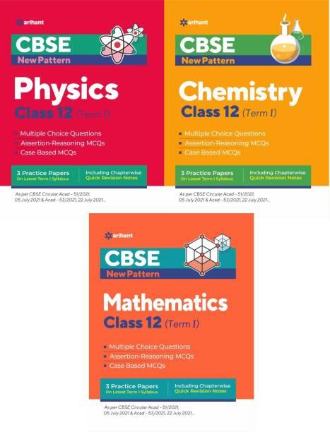 Arihant CBSE New Pattern MCQ Based PHYSICS, CHEMISTRY,MATHS For (TERM-I) Class-12 (3-BOOK SET)