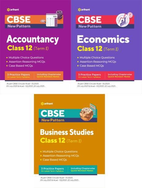 Arihant CBSE New Pattern MCQ Based ACCOUNTANCY, BUSINESS STUDIES, ECONOMICS For (TERM-I) Class-12 (3-BOOK SET)