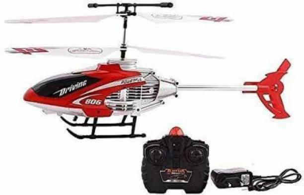 Friends Enterprise Velocity Induction Remote Control & Rechargeable Flying Helicopter with Unbreakable Blades Infrared Sensors (Orange, Red, Blue)
