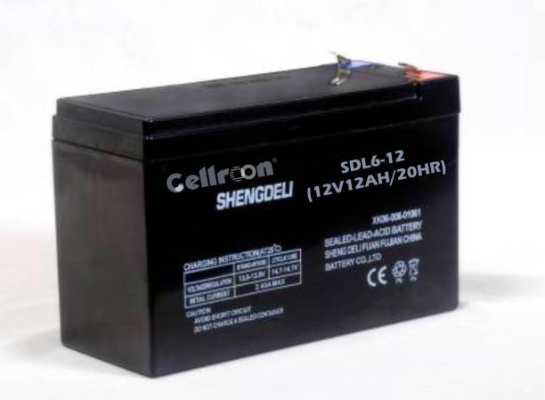 """Cellroon Shengdeli Rechargeable Battery """"12v/12ah/20hr"""" C20 Smf Maintenance Free Rechargeable Battery Emergency Light Projects / Agriculture Sprayer Machine And Use In Any Suitable Vehicle/ Ups/ Solar/ E-Bike/ Mini Inverter And More Instruments Ups AGM Solar Battery"""