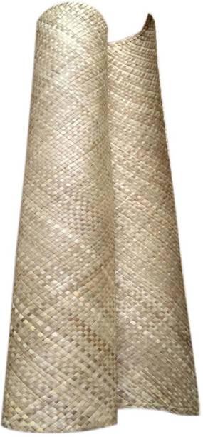 Mats Avenue Screw Pine Mat /Thazha paay for Infants Hand made Natura 3.25 Feet x5.5Feet Beige .25 mm Yoga Mat