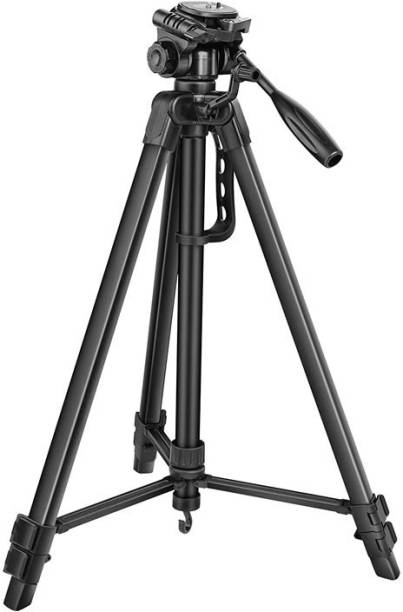 OBDIR 3366 TRIPOD strong Metal mobile phone tripod/camera stand Three-Way Head & Quick Release Plate For Video Recording/Reels/Makeup/Online Classes ,YouTube ,Instagram ,Fits all smartphones,Action & DSLR Cameras Tripod Tripod, Tripod Bracket, Tripod Kit