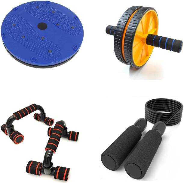 LIVOX Tummy Twister Abdominal ABS Exerciser With Ab Roller, Pushup Bar And Skipping Rop Ab Exerciser