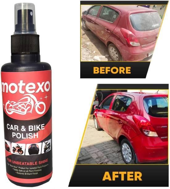 MOTEXO Liquid Car Polish for Dashboard, Chrome Accent, Exterior, Headlight, Leather, Metal Parts, Tyres, Windscreen, Bumper