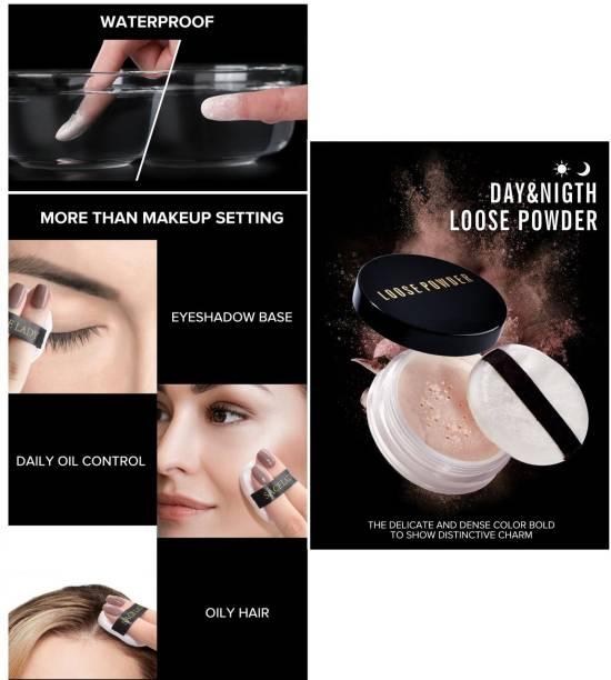 MIKARA Makeup Loose Powder Finishing Powder Face Makeup Waterproof Oil Control Loose Powder Comestics Makeup Compact