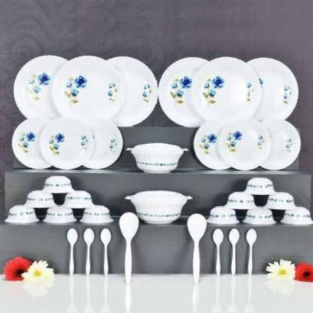 MAGNIFY Pack of 36 PP (Polypropylene) DINNER SET (36 PCS) Dinner Set