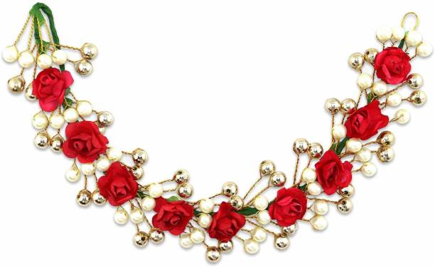 krelin Party Bridal Fancy Hair Clip Headband Hair Accessories Tiara Accessories for Women Pins Artificial White Stone Flowers Accessories (Acc08) Bun