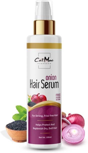 CATMAC Hair Serum Red Onion & Black Seed Hair Serum for Hair , Silk , Smooth , Shining , Soft & Straight , Replenish Dry & Dull For All Hair Types Treatment ( 100ml )