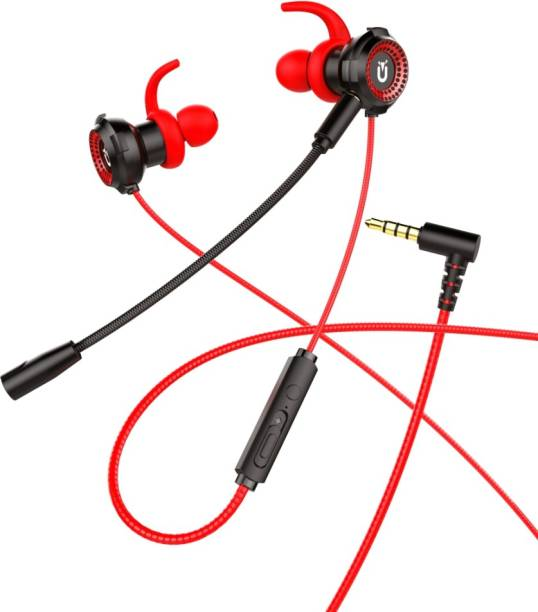 U&I Web Series Wired Gaming Earphone with Adjustable Mic Wired Gaming Headset