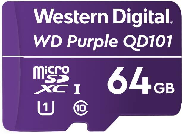 Western Digital QD101 64 GB MicroSD Card Class 10 100 Mbps  Memory Card