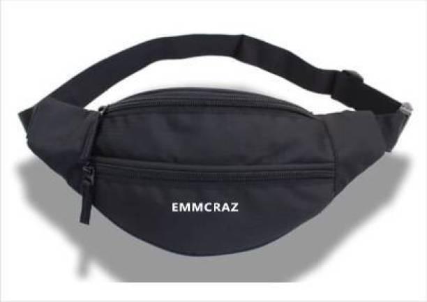 EMMCRAZ Sports Waist Bag for Men & Women Waist Bag (Black) Waist Bag (Black)  Camera Bag