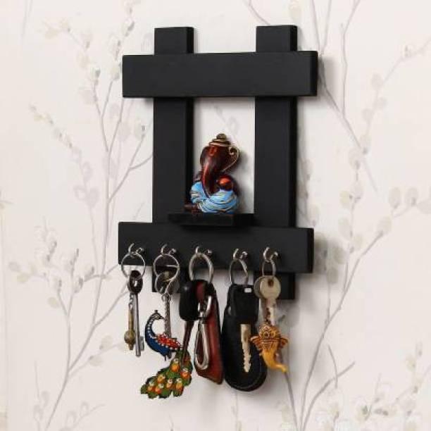 ANTIQUEKING Wooden key holder & chabi stand & wall decor & Hanging item Wooden Wall Shelf