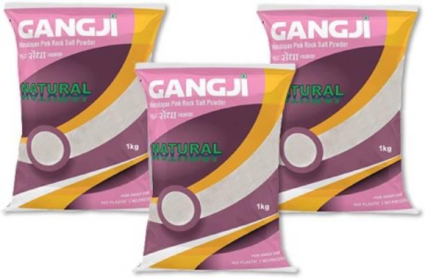 Gangji Himalayan Pink Rock Salt Powder-Pack of 3 Himalayan Pink Salt