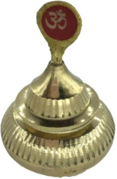 Mayapuri Handmade Sindoor Dibbi/Kumkum/Golden Sindur Box with Stick, Metal: Brass (Pack of 1) Sindoor Box with Stick