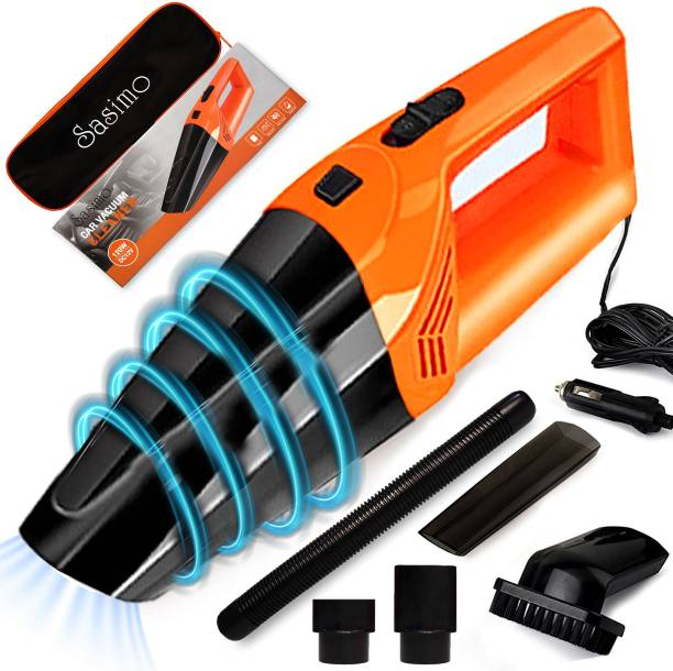 Sasimo 12V High Power Wet & Dry Portable Handheld Car Vacuum Cleaner-Orange Car Vacuum Cleaner with Anti-Bacterial Cleaning, 2 in 1 Mopping and Vacuum, Anti-Bacterial Cleaning, Reusable Dust Bag
