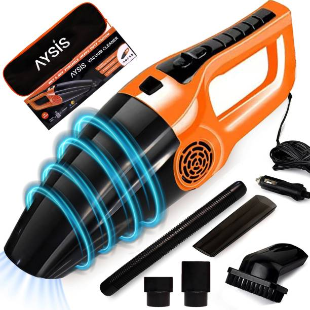 Sasimo 12V High Power Wet & Dry Portable Handheld Car Vacuum Cleaner Orange,Black Car Vacuum Cleaner with Anti-Bacterial Cleaning, 2 in 1 Mopping and Vacuum, Anti-Bacterial Cleaning, Reusable Dust Bag