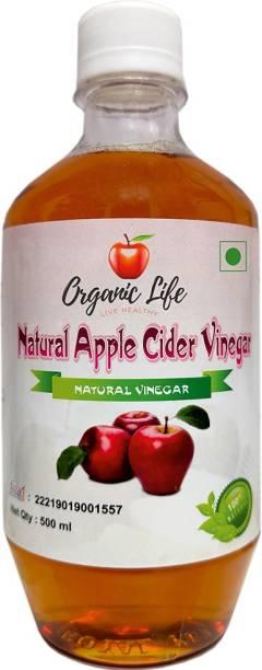 Organic life Apple Cider Vinegar (ACV), Unflavored- 500 mL (ACV Filtered, 500mL) Vinegar