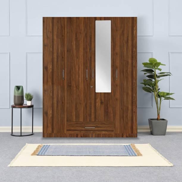 Wakefit Cashmere Engineered Wood 4 Door Wardrobe