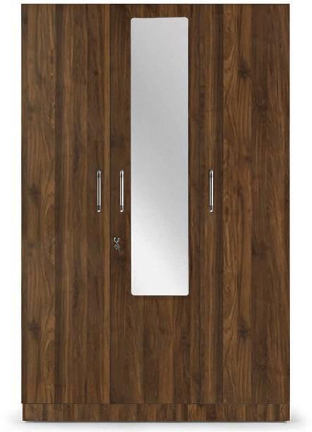 Wakefit Gingham Engineered Wood 3 Door Wardrobe