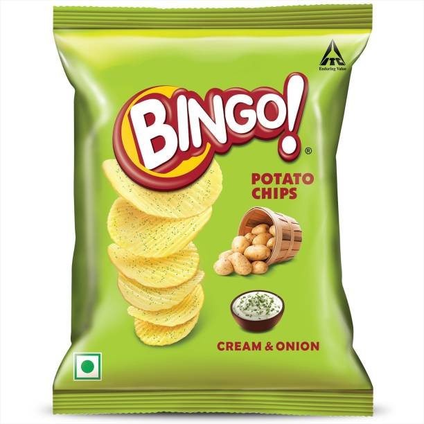 Bingo Cream and Onion Potato Chips