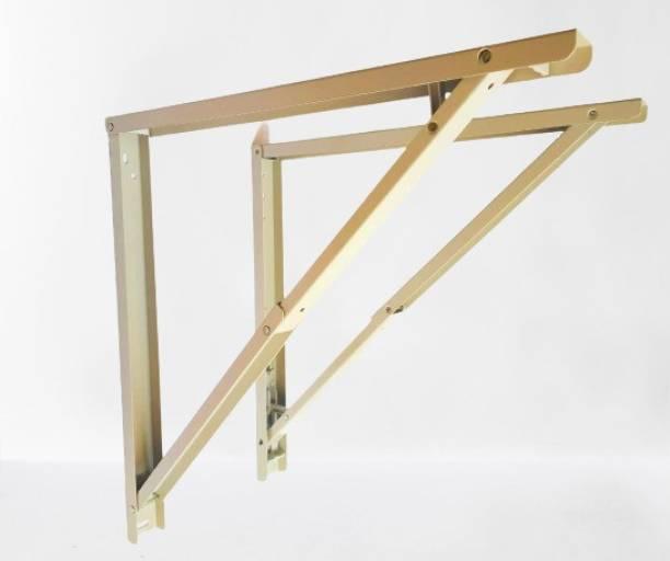 "WILLFE Folding Shelf Brackets - Heavy Duty White Metal Triangle Table Bench Folding Shelf Bracket 12 Inch, 12"" INCH Shelf Bracket"