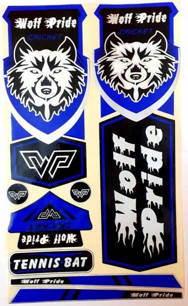 WOLF PRIDE WP BLUE CRICKET BAT STICKER Bat Sticker