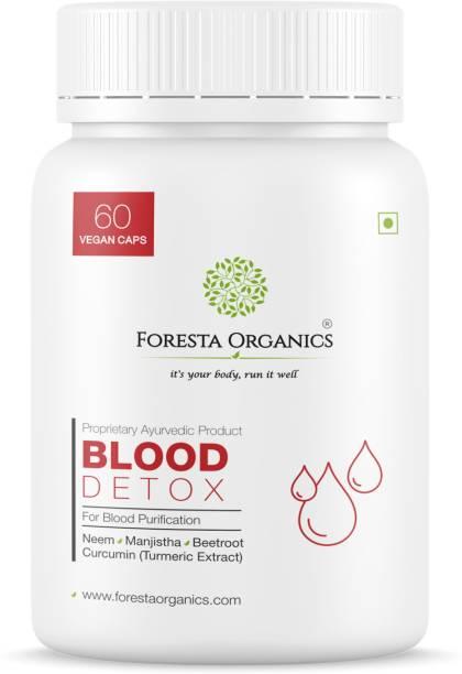 Foresta Organics BLOOD DETOX Ayurvedic Natural Betroot, Manjistha, Curcumin| Blood Thinner Purifier
