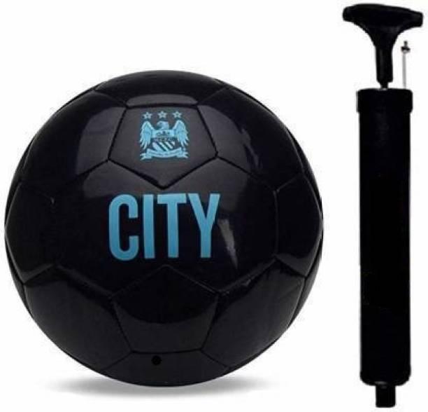 JOJOMART COMBO CITY BLACK FOOTBALL WITH AIR PUMP Football - Size: 5