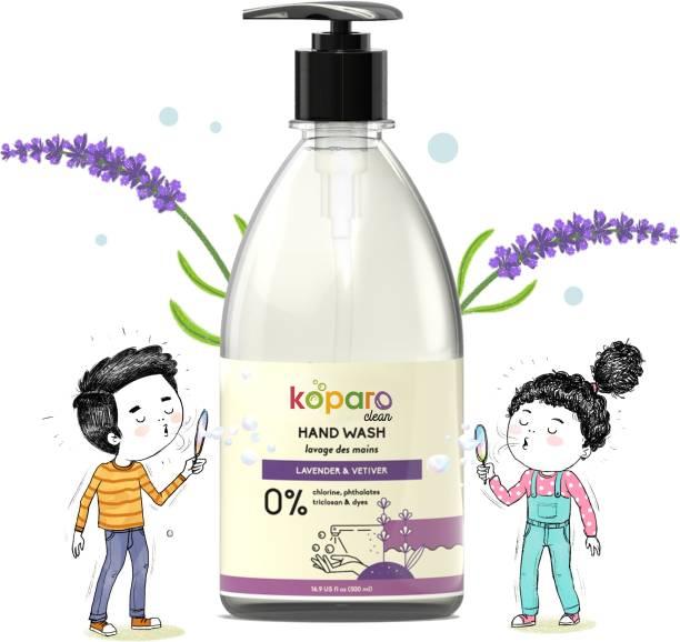 Koparo Hand Wash - Ph Balanced & Hypoallergenic - Infused with Tea Tree Essential Oil, Glycerin - Kids Safe - Eco Friendly Hand Wash Bottle + Dispenser