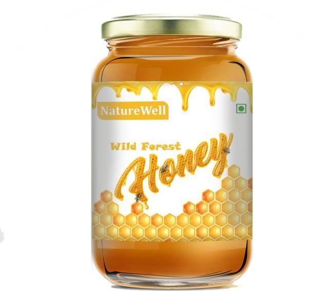 Naturewell 100% Pure Natural Unprocessed Raw Forest Honey Organic Honey Glass Jar