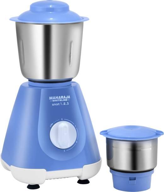 MAHARAJA WHITELINE MX-221 Smart 1..2..3 500 W Mixer Grinder (2 Jars, Blue)