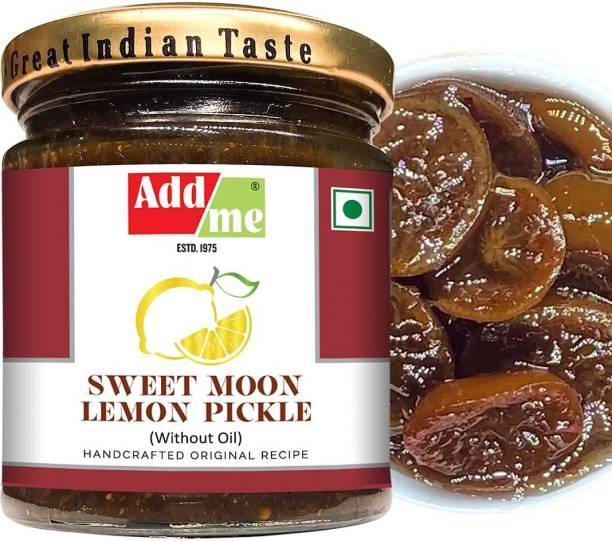 ADD ME Sweet Lemon Pickle 200gm khatta meetha Nimbu Ka achar Glass jar Lemon Pickle